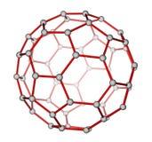 Den molekylära fullerenen C60 strukturerar Arkivfoto