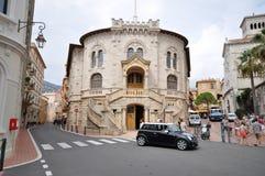 Den Monaco domstolsbyggnaden Arkivfoto