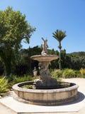 Den Monserrate slotten är en exotisk palatslik villa och gardenlocated i Sintra, Portugal, den traditionella sommarsemesterorten  Royaltyfri Foto