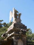 Den Monserrate slotten är en exotisk palatslik villa som lokaliseras i Sintra, Portugal, den traditionella sommarsemesterorten av Arkivbilder
