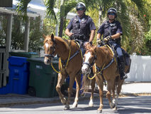 Den monterade polisen i Key West, Florida Royaltyfri Foto