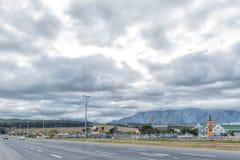 Den Mooiberge lantgården stannar och jordgubbelantgården nära Stellenbosch arkivbild
