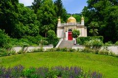 Den moriska kiosket på den Linderhof slotten i Tyskland Fotografering för Bildbyråer