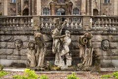 Den Moszna slotten är en historisk slott Arkivbilder