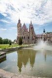 Den Moszna slotten är en historisk slott Royaltyfri Fotografi