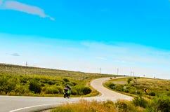 Den motoriska cykeln turnerar - Colorado Arkivbilder