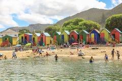 Den Muizenberg stranden Fotografering för Bildbyråer