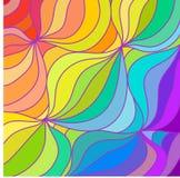 Den Multicolour regnbågen fodrar bakgrund illustration Arkivfoto