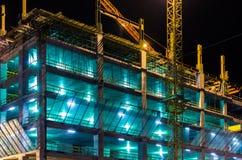 Konstruktion av affären centrerar Fotografering för Bildbyråer