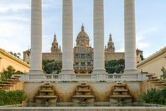 Den Museu Nacional d'Arten de Catalunya 1 arkivfoto