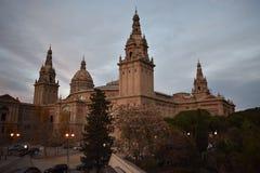 Den Museu Nacional D `en Art de Catalunya - Barcelona royaltyfri bild