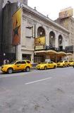 Den musikaliska Hamiltonen på den Rodgers teatern i New York Royaltyfria Bilder