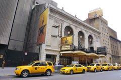 Den musikaliska Hamiltonen på den Rodgers teatern i New York Royaltyfri Foto