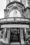 Den musikaliska mamman Mia för ABBA på den Novello teatern i London - LONDON - STORBRITANNIEN - SEPTEMBER 19, 2016 Arkivbilder