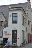 Den mycket minsta stången i staden av Ghent Fotografering för Bildbyråer