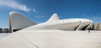 Den mycket stora panoramautsikten av Haydar Aliyev Centre planlade vid ar Royaltyfria Bilder
