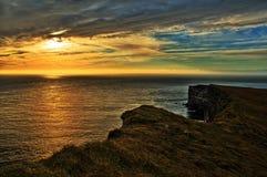 Den mycket västra punkten i Island & x28; Europe& x29; , Latrabjarg Fotografering för Bildbyråer