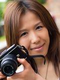 Den nätt fotografen Arkivbilder