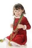 Den nätt julen pryder med pärlor royaltyfri foto