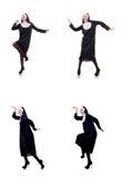 Den nätta nunnan som isoleras på vit Royaltyfria Bilder