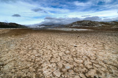 Den Namaskard thermalen zonplanerar i Island Royaltyfri Bild