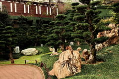 Nan Lian trädgård i Hong Kong Royaltyfria Bilder
