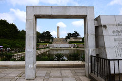 Den Nanjing Yuhuatai monumentet Arkivbilder