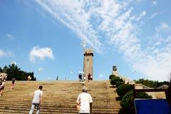 Den Nanjing Yuhuatai monumentet Arkivfoton