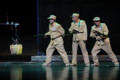 Den nationella armén tjäna som soldat den negativa formJiangxi operan en besman Royaltyfri Fotografi
