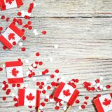 Den nationella ferien av Juli 1 - lycklig Kanada dag, herrav?ldedag, begreppet av patriotism, sj?lvst?ndighet och minne, ett st?l royaltyfri fotografi