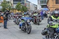 Den nationella GÖDSVINET samlar Halden, Norge 12 till 15 Juni 2014 (cykelrunn Royaltyfria Foton
