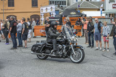 Den nationella GÖDSVINET samlar Halden, Norge 12 till 15 Juni 2014 (cykelrunn Arkivbild