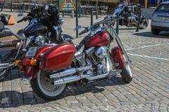 Den nationella GÖDSVINET samlar Halden, Norge 12 till 15 Juni 2014 (cyklar) Arkivfoto
