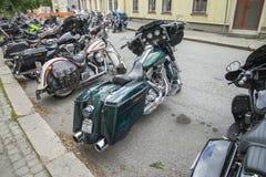 Den nationella GÖDSVINET samlar Halden, Norge 12 till 15 Juni 2014 (cyklar) Arkivbild