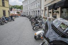Den nationella GÖDSVINET samlar Halden, Norge 12 till 15 Juni 2014 (cyklar) Arkivfoton