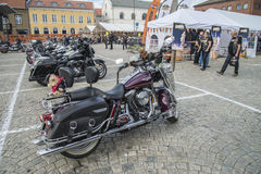 Den nationella GÖDSVINET samlar Halden, Norge 12 till 15 Juni 2014 (cyklar) Royaltyfri Bild