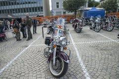 Den nationella GÖDSVINET samlar Halden, Norge 12 till 15 Juni 2014 (cyklar) Arkivbilder