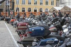 Den nationella GÖDSVINET samlar Halden, Norge 12 till 15 Juni 2014 (cyklar) Fotografering för Bildbyråer