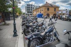 Den nationella GÖDSVINET samlar Halden, Norge 12 till 15 Juni 2014 (cyklar) Royaltyfria Bilder