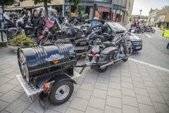 Den nationella GÖDSVINET samlar Halden, Norge 12 till 15 Juni 2014 (cyklar) Royaltyfria Foton