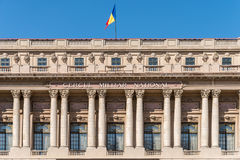 Den nationella militära cirkeln (den Cercul Militar medborgaren) i Bucharest Arkivfoto