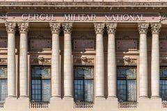 Den nationella militära cirkeln (den Cercul Militar medborgaren) i Bucharest Royaltyfria Bilder