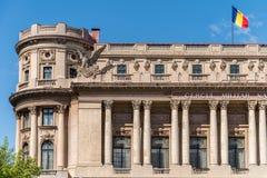 Den nationella militära cirkeln (den Cercul Militar medborgaren) i Bucharest Royaltyfria Foton