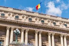 Den nationella militära cirkeln (den Cercul Militar medborgaren) i Bucharest Arkivbilder