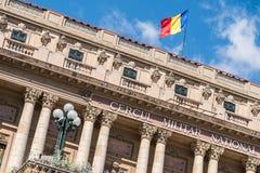 Den nationella militära cirkeln (den Cercul Militar medborgaren) i Bucharest Arkivbild