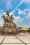 Den nationella monumentet kallade Tugu Negara i Kuala Lumpur, Malaysia arkivbilder