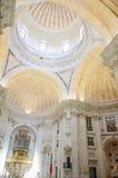 Den nationella panteon av Santa Engracia med symmetrisk sammansättning av rich dekorerade, Lissabon, Portugal Royaltyfri Bild