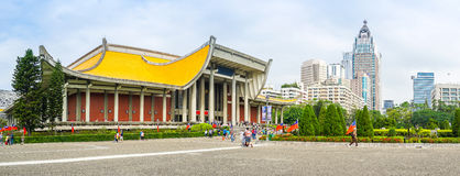 Den nationella Sun Yat-sen Memorial Hall i Taipei, Taiwan Royaltyfria Bilder