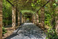 Den nationella trädgården (förr den kungliga trädgården) av Aten Royaltyfria Foton