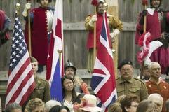 Den nationella världen kriger II amerikanska och brittiska Solider Royaltyfria Bilder
